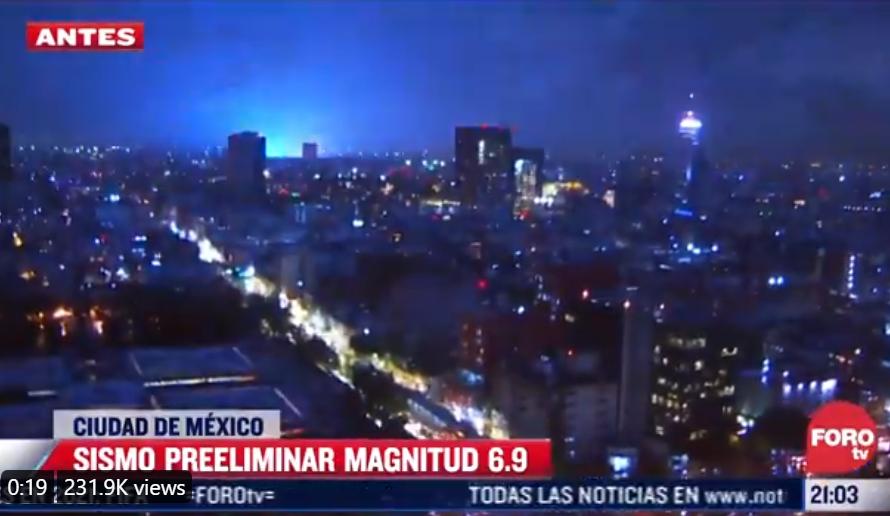 mexiko zemětřesení