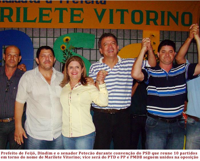 Depois de vai e vem político, coligação com dez partidos, inclusive PP e PMDB, lançam chapa Marilete Vitorino/Chico Batista, em Tarauacá