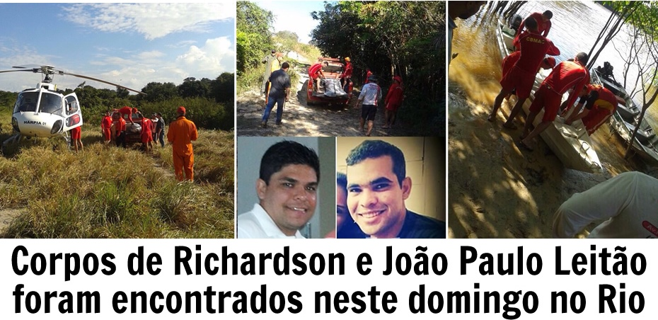 Corpos de João Paulo e Biri foram encontrados neste domingo no Rio Ituxi (R0)