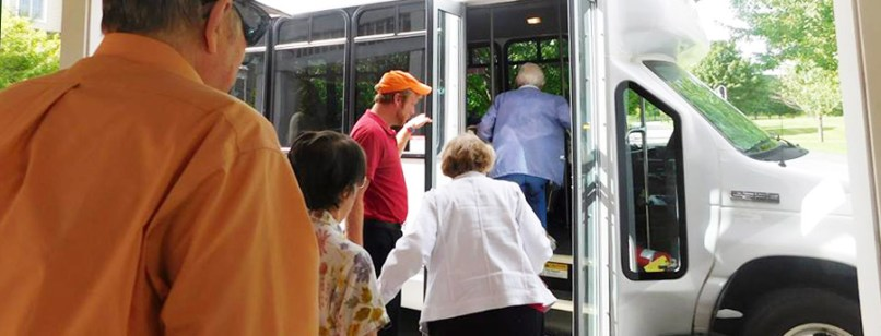 residents boarding independent living transportation service in Frankfort