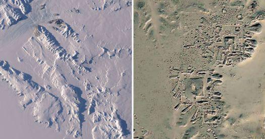 Antarctica - Estruturas depois do degelo