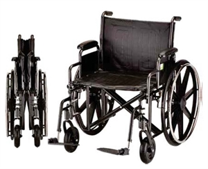 transport wheelchair nova diy 2x4 chair a c adderson healthcare inc 24 heavy duty with picture of reversible desk arms and swing away footrests