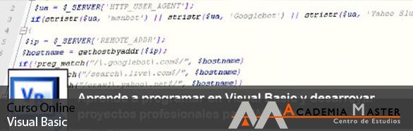 Curso de Visual Basic 6.0 , Academia Master Marbella Malaga