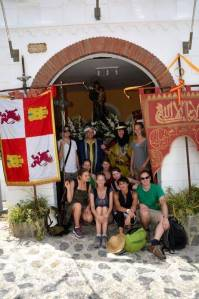 Mit den Spanisch-Sprachschülern beim Kulturausflug, hier beim Fest Mauren gegen die Christen, Mauren mit den Schülern.