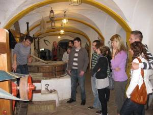 Cultural visit to a traditional grain mill with explanations by the owner for the Spanish language students