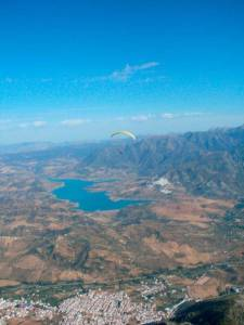 Paragliding in Algodonales during the Spanish learning program in Prado del Rey
