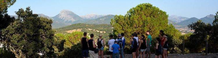 At the viewpoint of Prado del Rey on the first day of the Spanish course