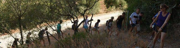 Hiking on the first day of the Spanish course in Prado del Rey