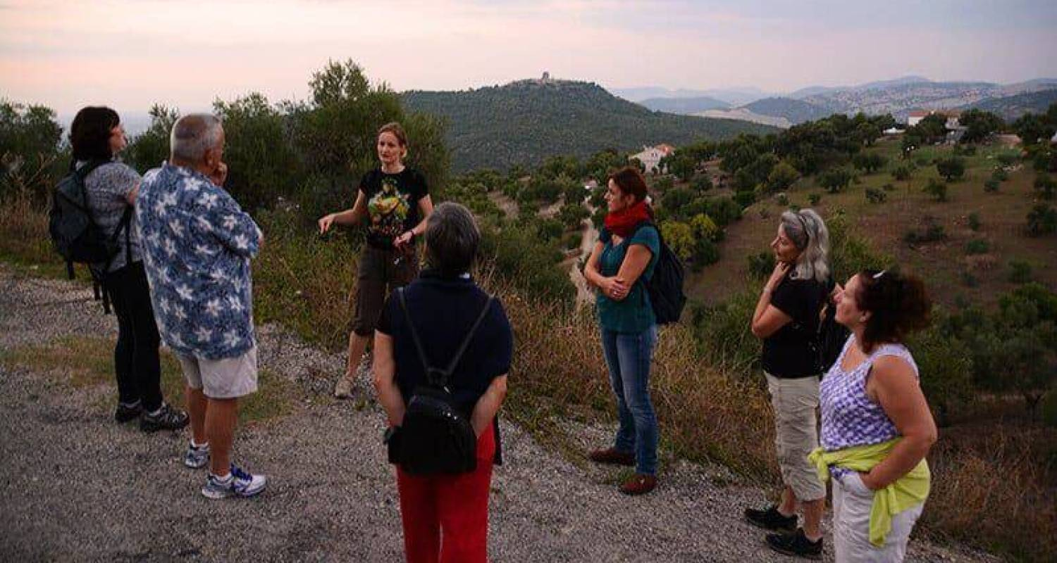 Hiking with the spanish language students in Prado del Rey, Andalusia, Spain