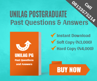 UNILAG Postgraduate Past Questions