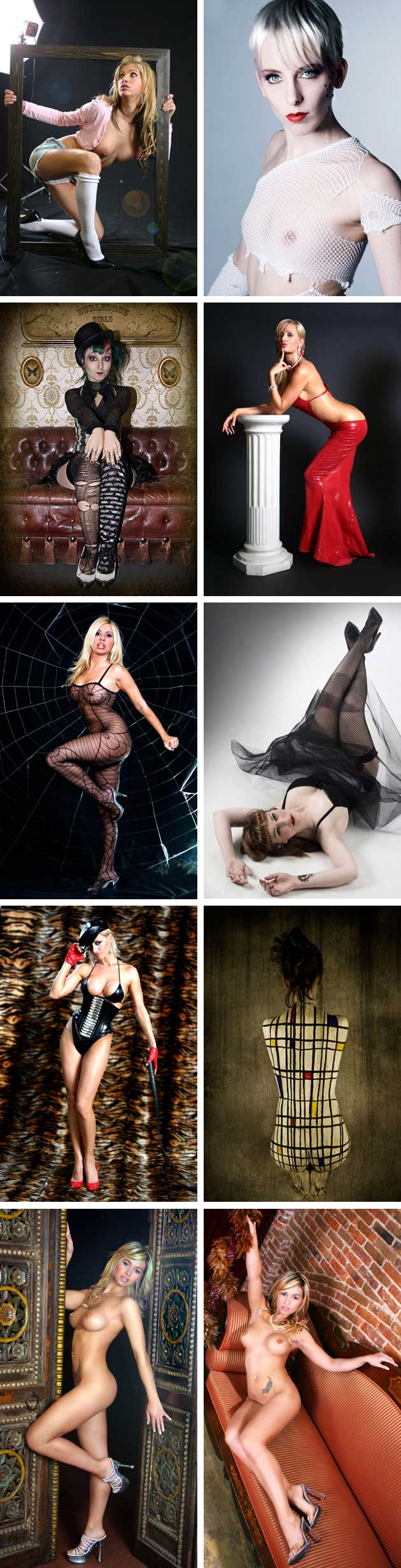 Cursos de fotografía. Desnudos goticos.