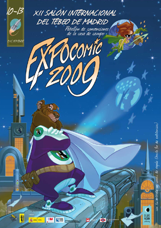 Cartel de Expocomic. Cursos de comic.