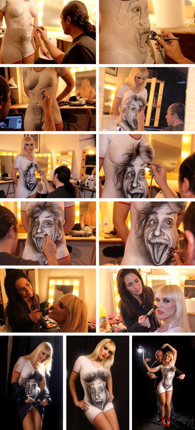 Cursos de Body Painting en Academia C10.
