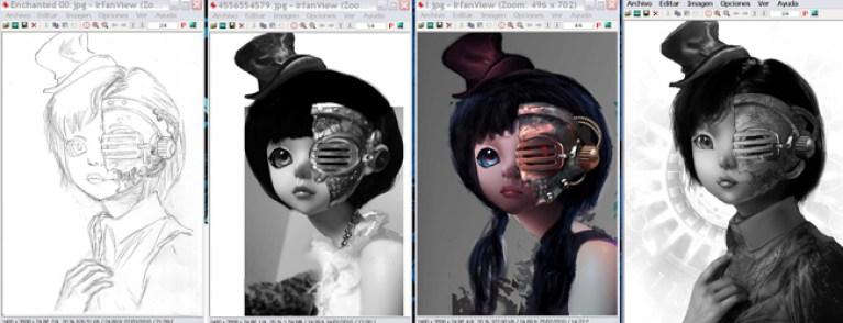 PRUEBA Doll de cursos de ilustracion digital en academia C10.