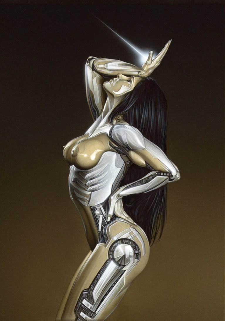 Carla Juaranz en ilustracion de aerografia pin up. Por Carlos Diez