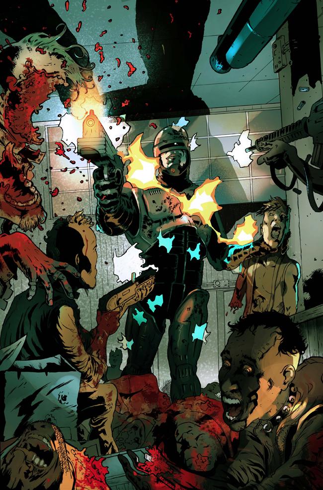 Color digital de paginas de comic.Robocop 3