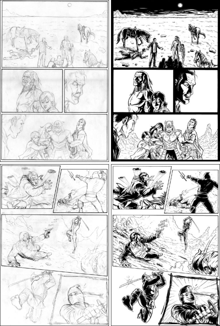 Comic Western 1 en Academia c10. Cursos de comic e ilustracion digital, aerografia, y manga. Madrid. Carlos Diez