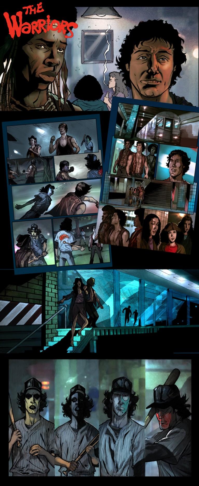 The Warriors 1 en Academia c10. Cursos de comic e ilustracion digital, aerografia, y manga. Madrid. Carlos Diez