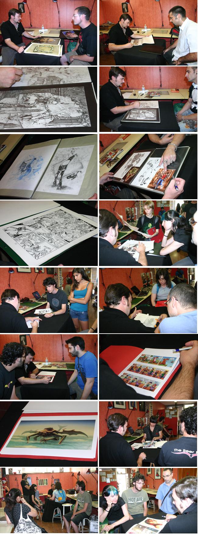 Revision de carpetas por parte de Eduardo Alpuente en Academia c10 de Madrid
