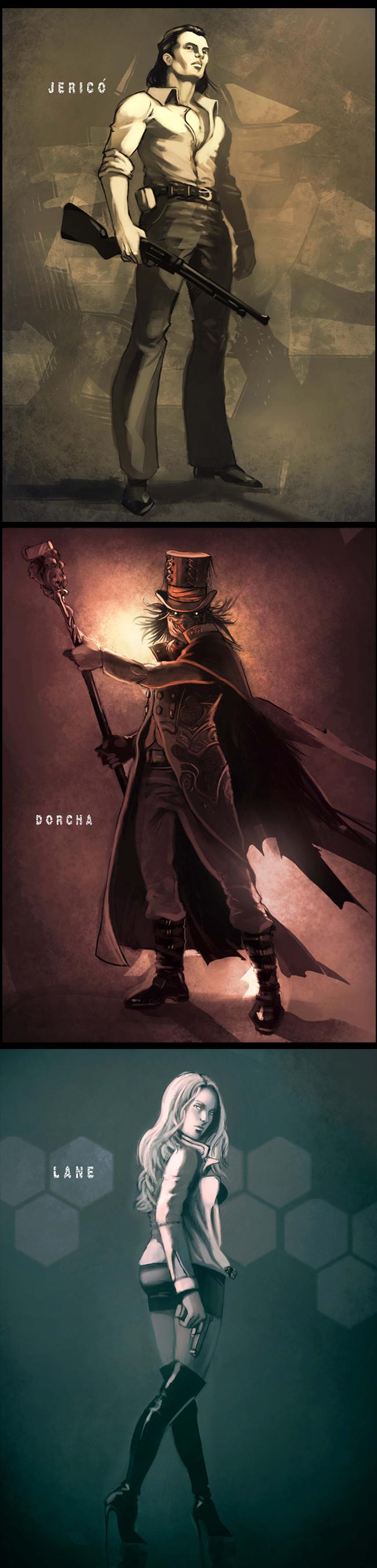 Diseño de personajes para proyecto de Cómic Book
