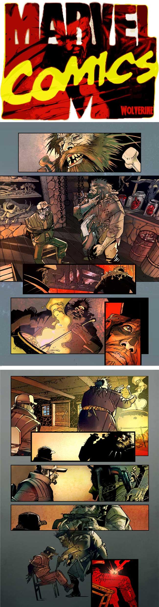 Wolverine y contactos para Marvel