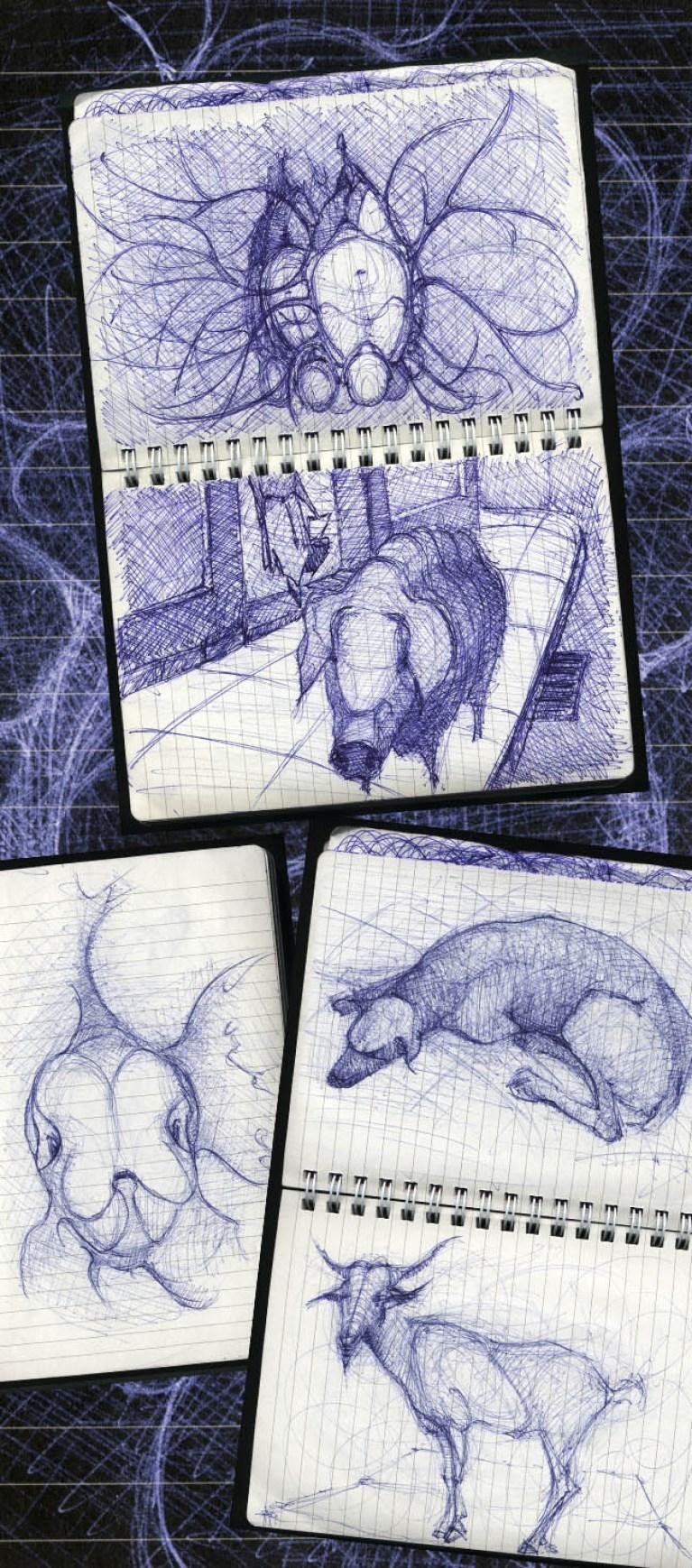 Cuaderno de bocetos en Academia C10