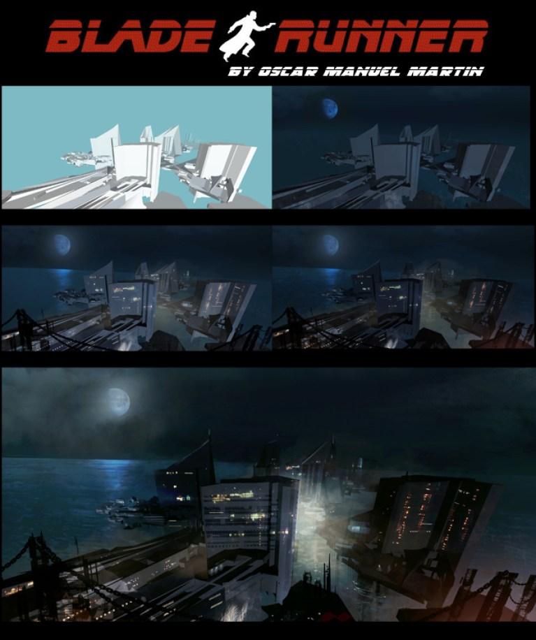 "Work in Progress Matte Painting ""Blade Runner"""
