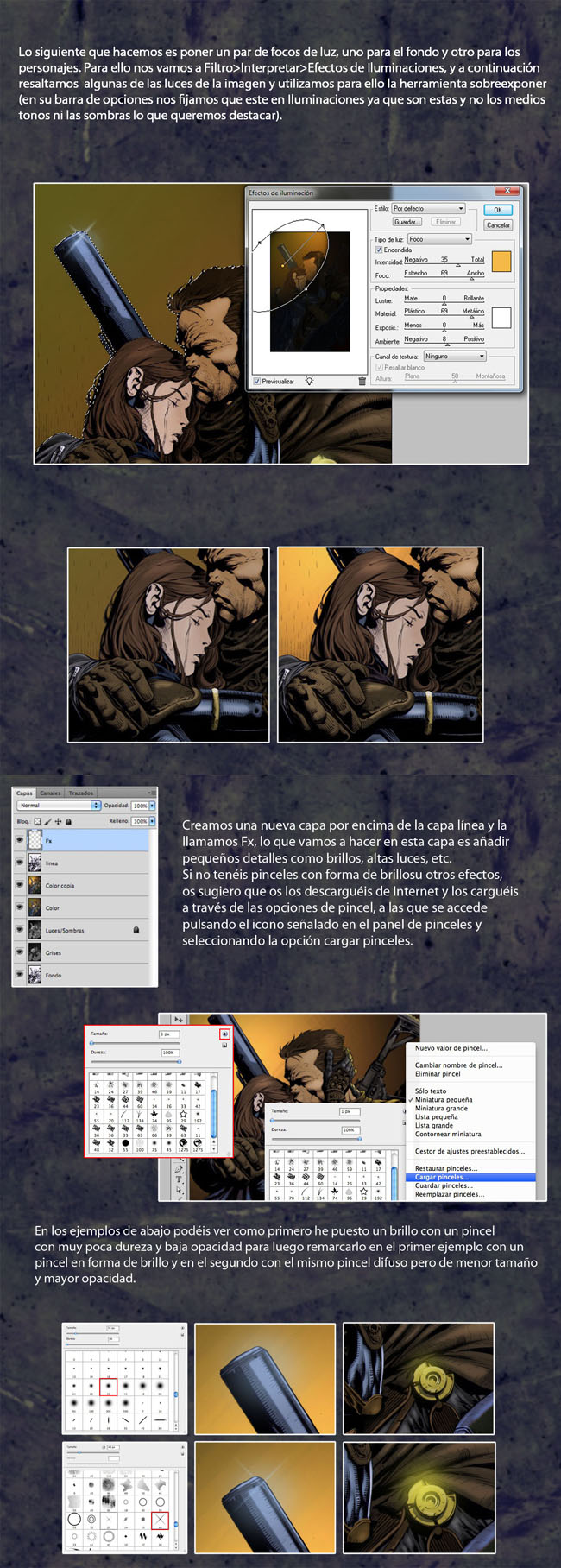 tutorial coloreado digital pag 7 y 8