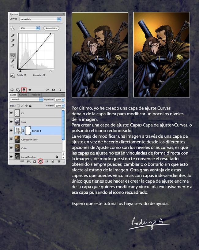 Coloreado digital de un cómic. Tutorial de Rodrigo Aguirre: Final