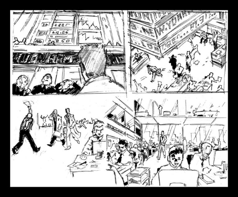 Bocetos para un story de publicidad en Academia C10