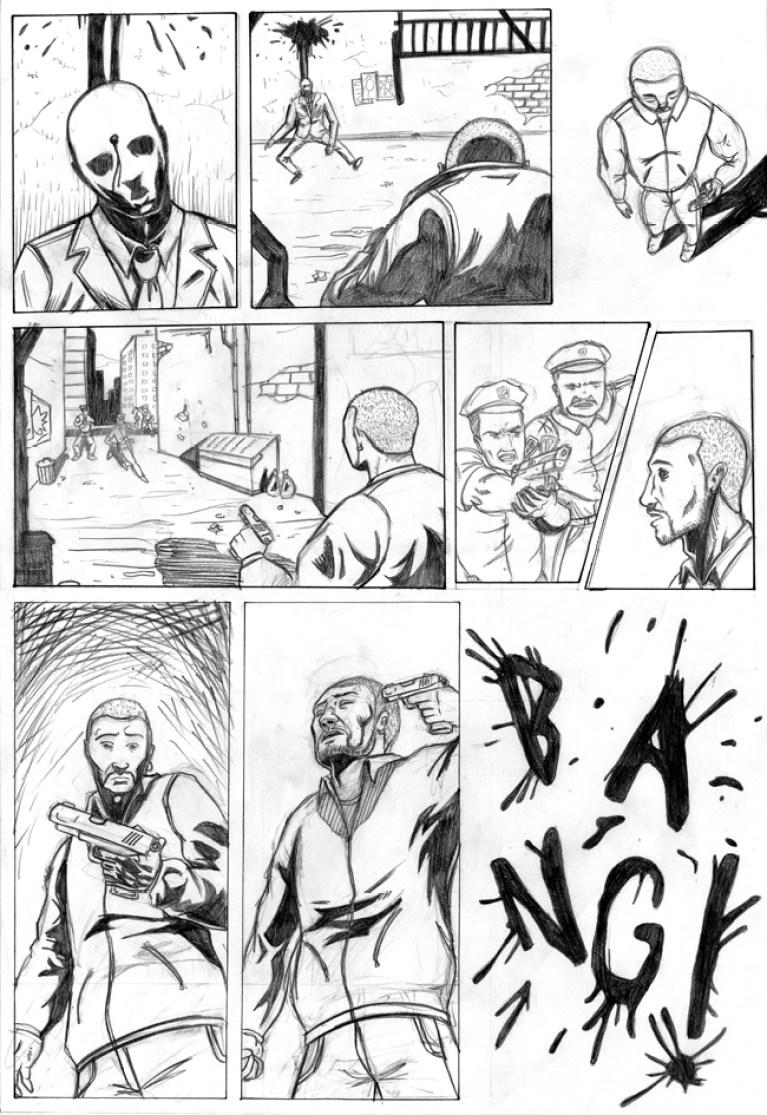 Curso de cómic: trabajo de Gonzalo