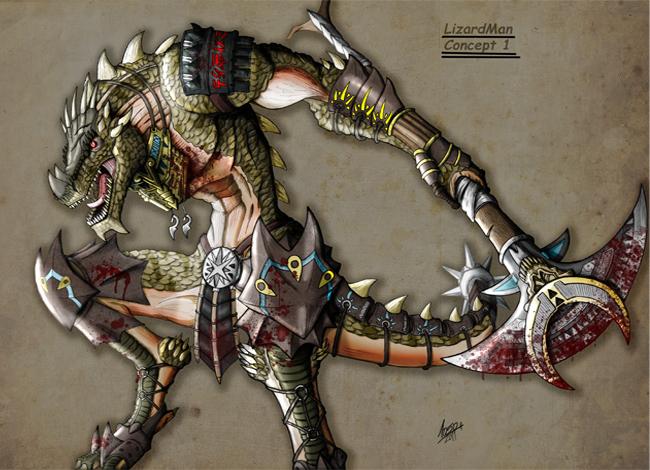 Concept Art en Academia C10: Lizardman