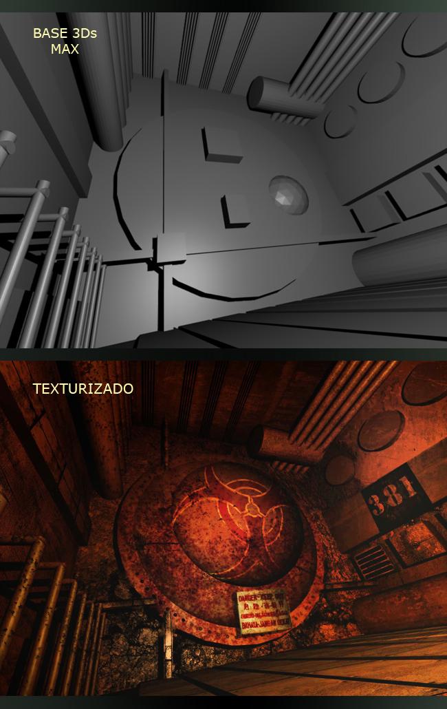 Interior al estilo video-game por Javier Garcia Rueda