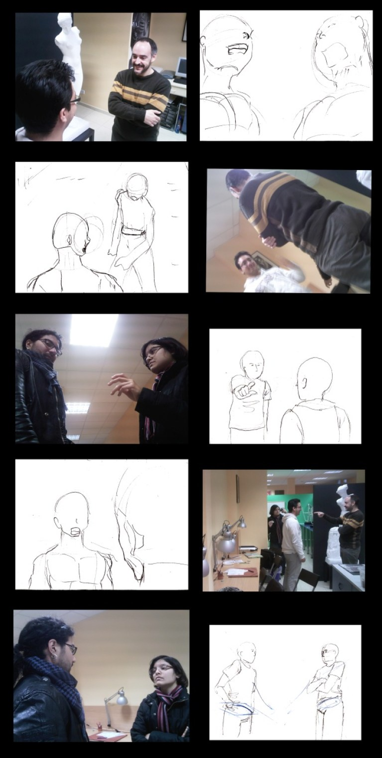 Dibujo versus fotografía.
