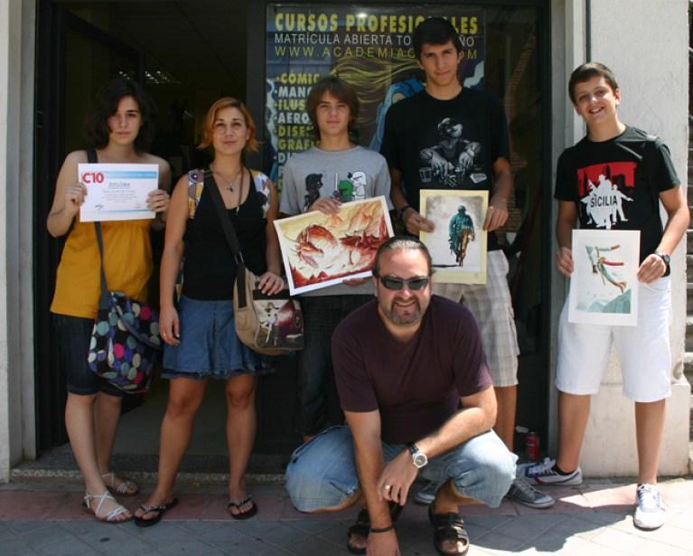 Comic-Curso-verano-MarianoSaura-AcademiaC10-Madrid