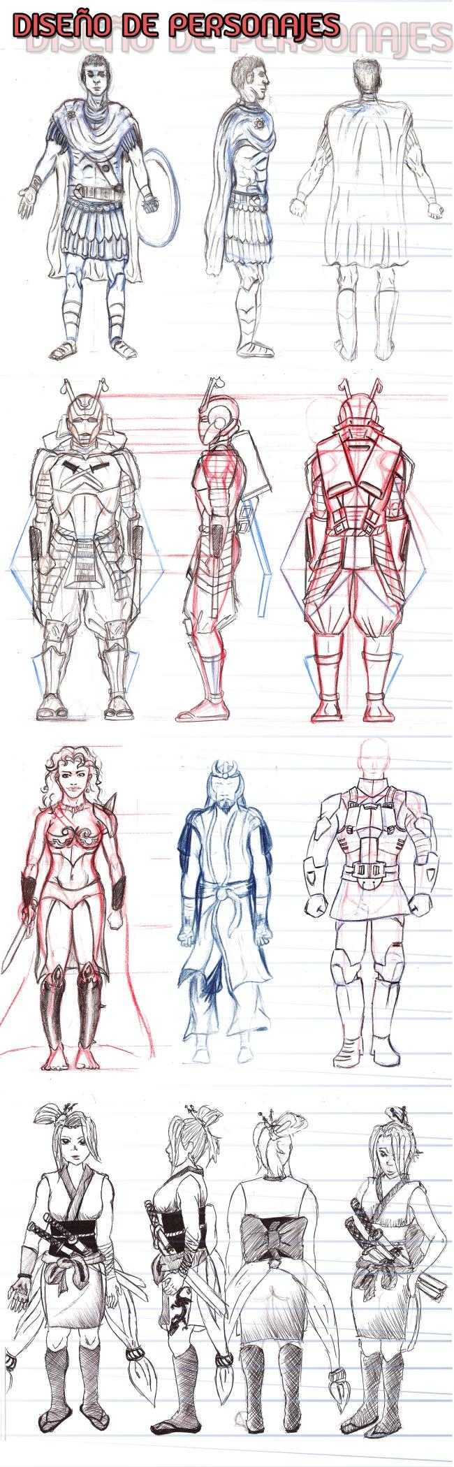 hojas-modelo-personajes-comic-masterc10-academiac10-verano-niños