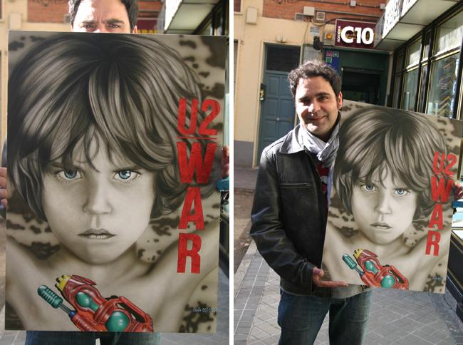 Luismi, alumno de los cursos de aerografia de Carlos Diez en Academia C10, autor de este trabajo de ilustración..