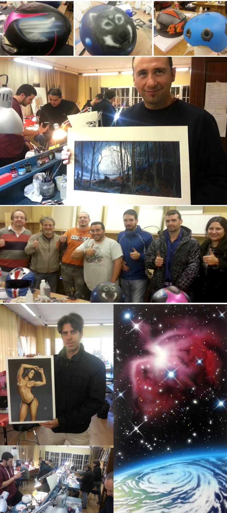 Trabajos cursos aerografia academia c1o madrid