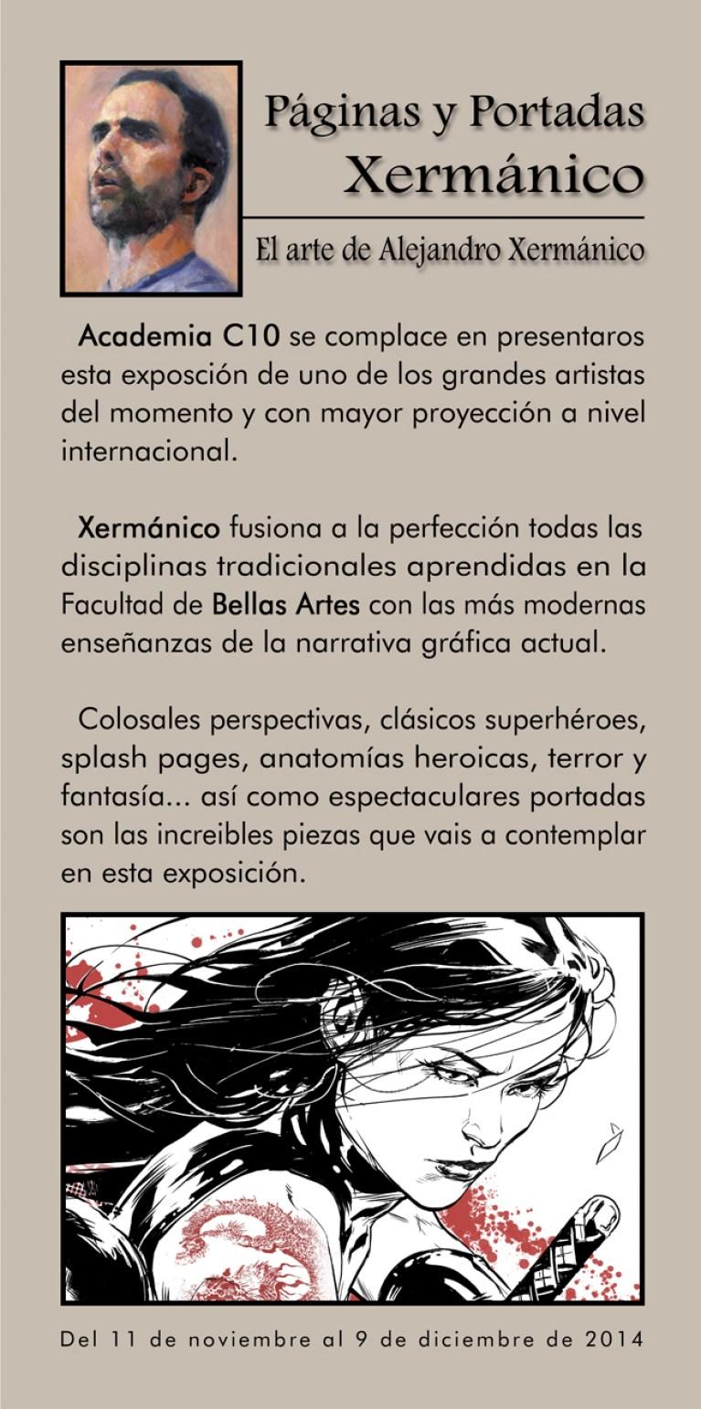 El dibujanre de DC comics Alejandro Germanico Xermanico expone en la academia de dibujo profesional C10. Carlos Diez.