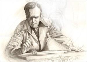 Dibujo, ilustracion, aerografia y tecnicas mixtas en esta obra de Carlos Diez tributo a Alex Raimond y Flash Gordon.