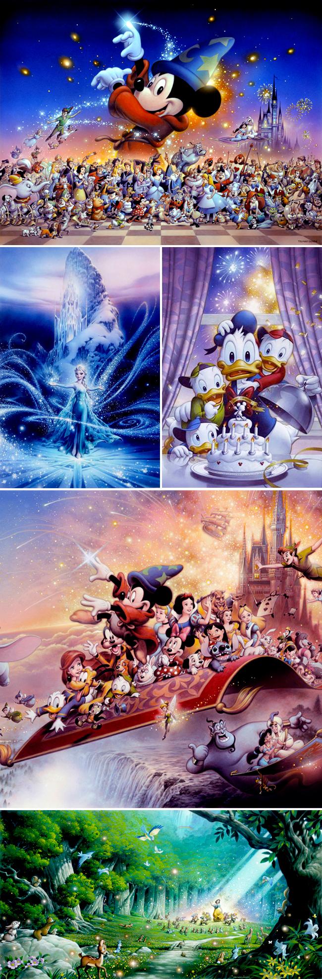 Ilustraciones de Tsuneo Sanda para Cursos MasterClass Ilustración en Academia c10 en Expocomic Madrid_Disney.