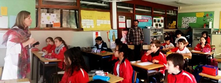 Clase de niños en el Colegio Virgen Milagrosa de Madrid-1-650