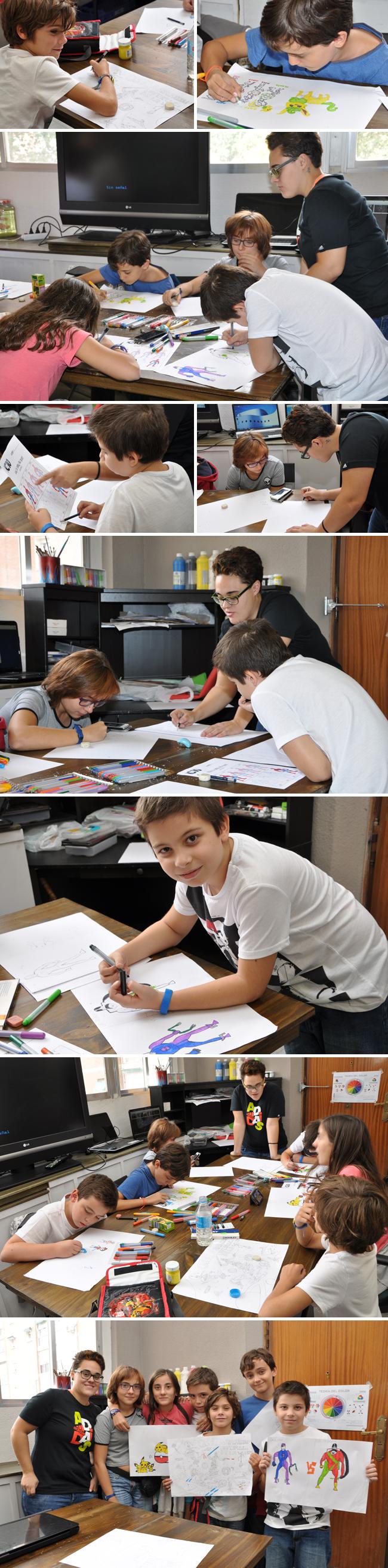 curso-dibujo-comic-digital-ninos-sabados-mananas-academiac10-madrid
