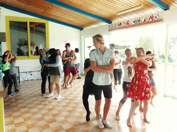 Salsa dance class