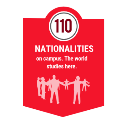 Students from 110 countries