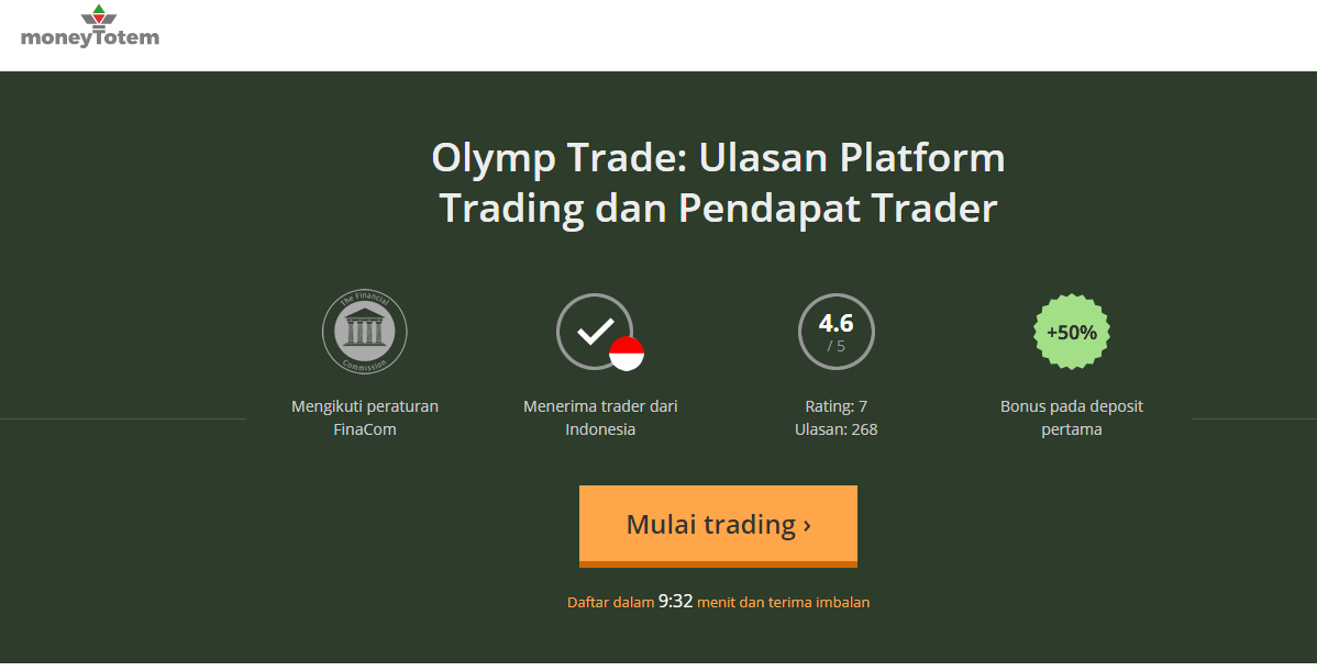 Moneytotem Olymp Trade