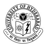 University of Hyderabad PG Dplomas in Distance Mode – 2014