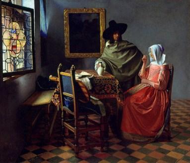 vermeer glass of wine