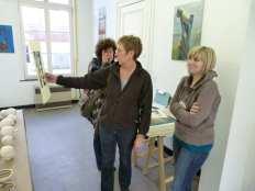 Verkoop van kunstwerken in de galerij