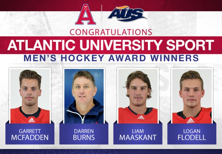 Three hockey Axemen and head coach named in AUS awards release